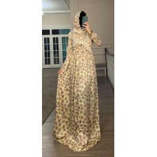 Платье с платком на кнопках